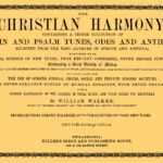 Christian Harmony 1873 William Walker Shaped Note or shape note Singing